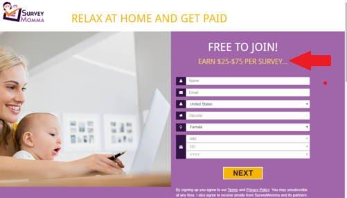 Survey Site Reviews Survey Momma - Claim 1
