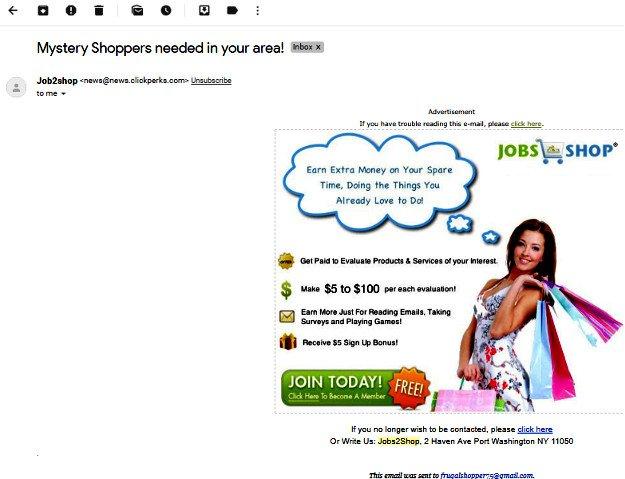 Survey Website Jobs2Shop - Email
