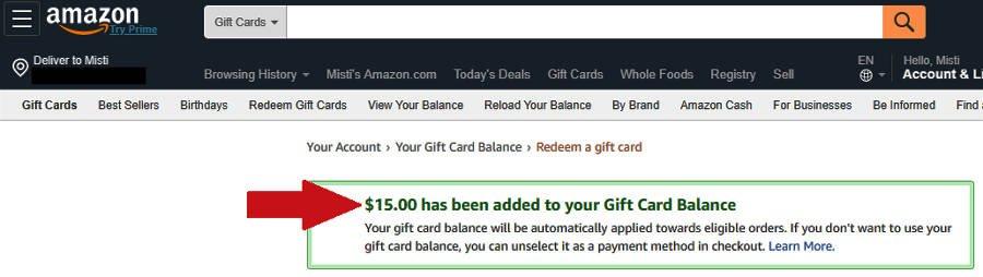 Survey Websites Catch - Proof of Welcome Bonus in Amazon Account