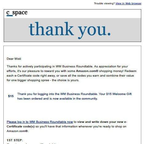 Survey Websites Catch - Welcome Bonus Email