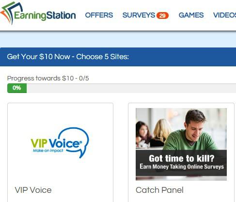 Surveys for Cash Earning Station - 10 Now