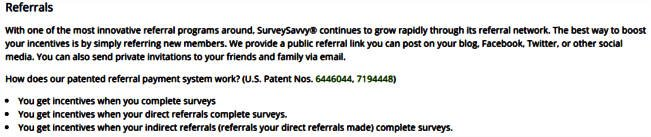 Surveys for Cash Survey Savvy - Referrals