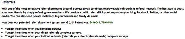 Surveys for Cash Survey Savvy - Referrals