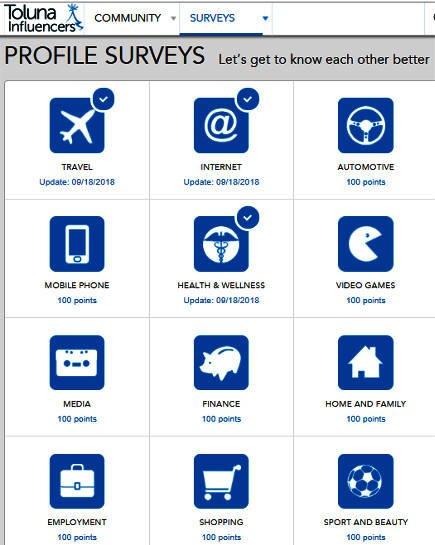 Surveys for Money Toluna - Profile Surveys