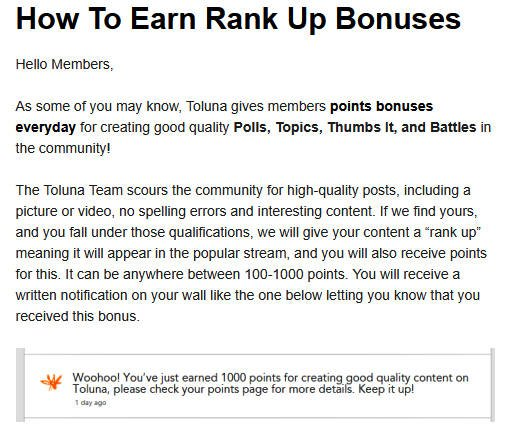 Surveys for Money Toluna - Rank Ups
