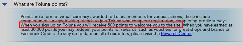 Surveys for Money Toluna - Signup Bonus