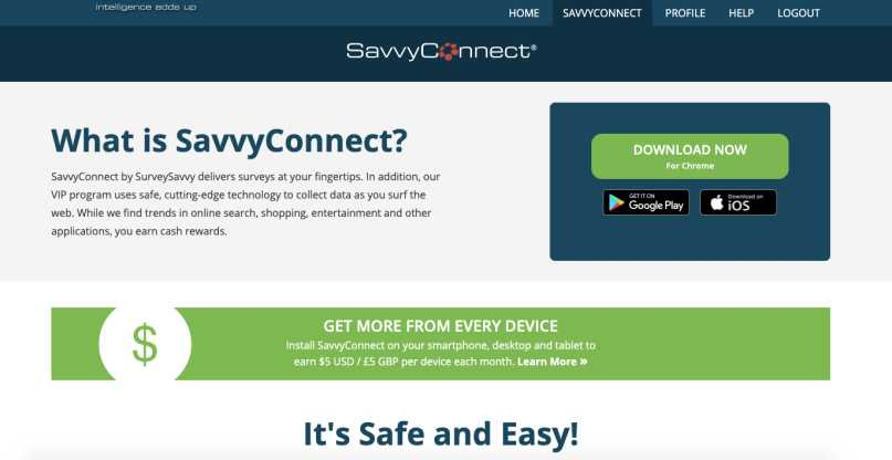 SurveySavvy SavvyConnect