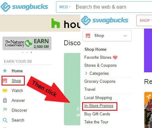 Swagbucks Surveys to In-Store Promos