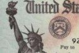 treasury check ink bleed red