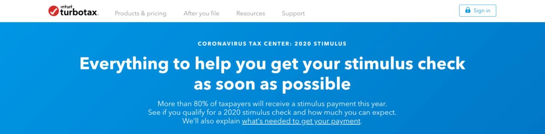 turbotax stimulus registration