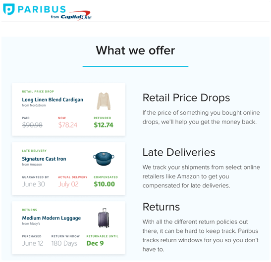 what we offer on paribus